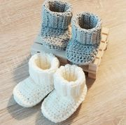 KoukussaDesign Merino Wool Baby Booties - Grey