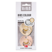 Bibs Pacifiers 2-pack - Vanilla/Blush