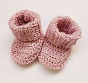 KoukussaDesign Merino Wool Baby Booties - Light Pink