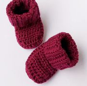 KoukussaDesign Merino Wool Baby Booties - Dark Heather