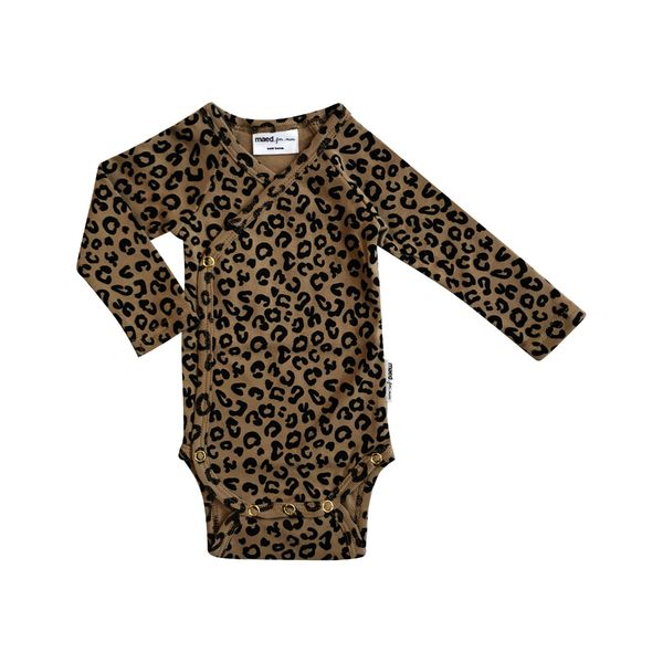Maed for mini Wrap Body, Brown Leopard