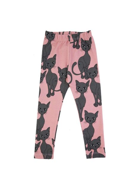 Dear Sophie Pink Cat Leggins